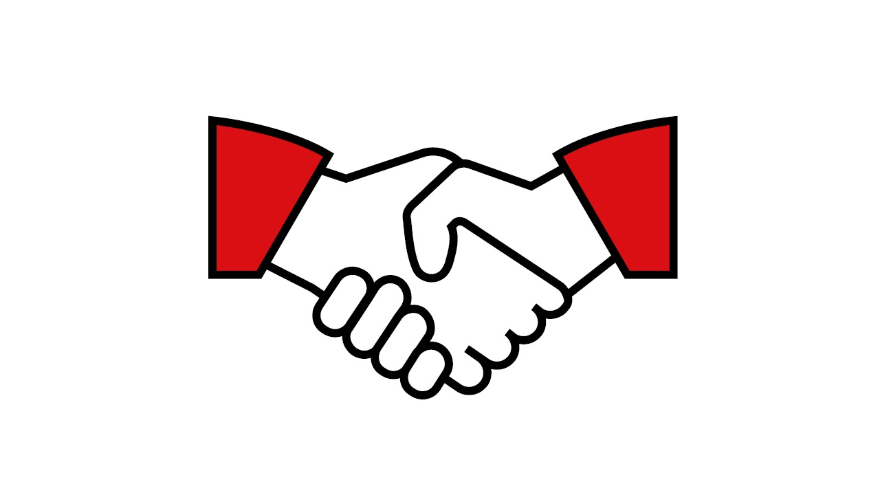 Shaking hands used to symbolize free health check and flu shots are included in HSBC FirstCare Plus Medical Insurance.